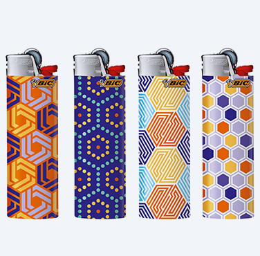 bic maxi lighters hexagonal
