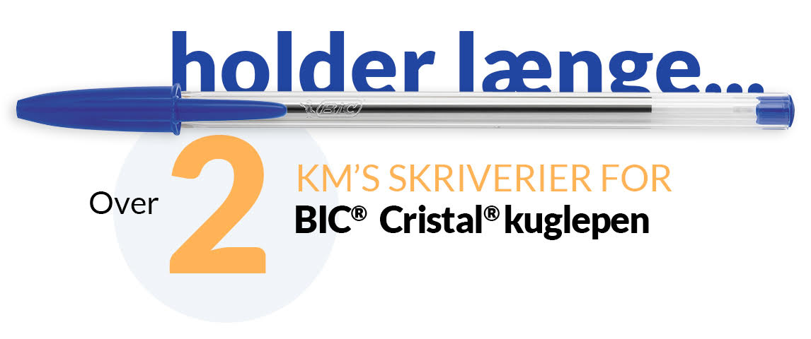 pen og tekst – over 2 km's skriverier